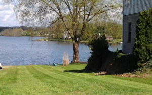 mowing and core aerating lawns in portage lakes ohio,