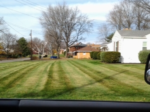mowing the yard, aeration, aerating, barberton ohio, copley ohio, norton ohio, core aeration,